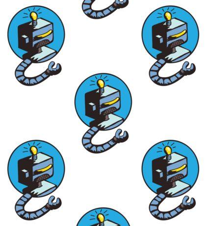 doodle robots Sticker