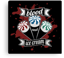 Blood & Ice Cream - Colour Canvas Print