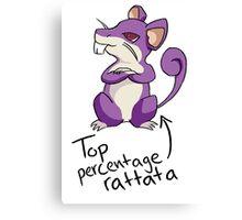 Top Percentage Rattata Canvas Print