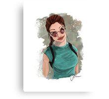 Lara Croft Portrait Canvas Print