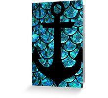 Mermaid anchor  Greeting Card