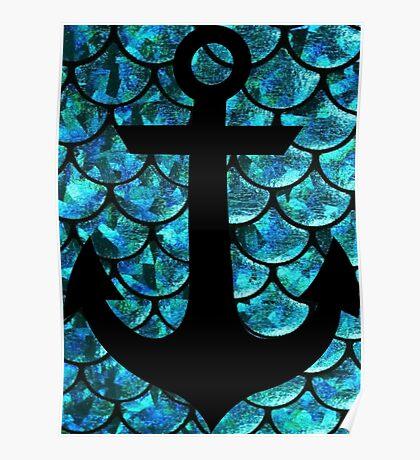 Mermaid anchor  Poster