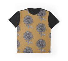 Flowers In Your Hair - Mustard Graphic T-Shirt