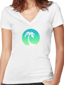 Palm Women's Fitted V-Neck T-Shirt