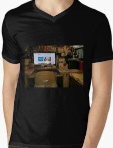 My Computer Heaven...(or Hell, depending...) Mens V-Neck T-Shirt