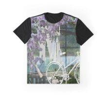 White Bike and Laundry Graphic T-Shirt