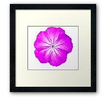 Purple Power Flower Framed Print