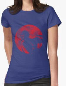 Crimson Moon Womens Fitted T-Shirt