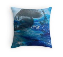 Girl lost in the the sea Throw Pillow
