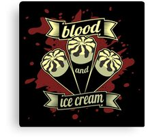 Blood & Ice Cream - Variant Canvas Print