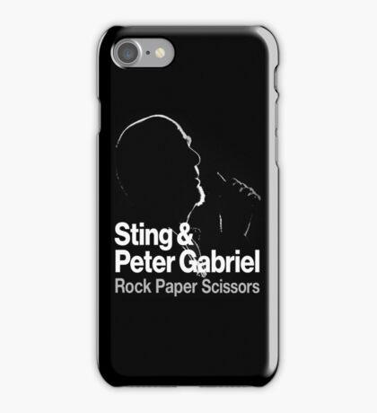 PETER GABRIEL STING PAPER SCISSORS iPhone Case/Skin