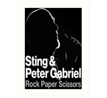 PETER GABRIEL STING PAPER SCISSORS Art Print