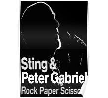 PETER GABRIEL STING PAPER SCISSORS Poster