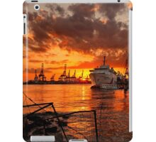 Sunset at the port iPad Case/Skin