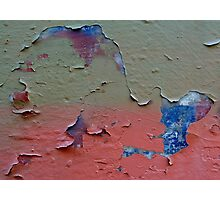 Cracked graffiti wall. Photographic Print