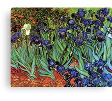 'Blue Irises' by Vincent Van Gogh (Reproduction) Canvas Print