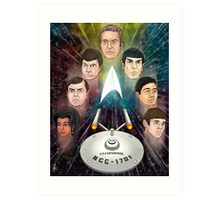 To Boldly Go Art Print