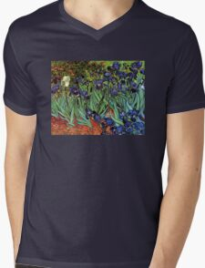 'Blue Irises' by Vincent Van Gogh (Reproduction) T-Shirt
