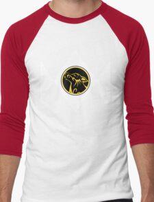 Pupper Rangers (Yellow) Men's Baseball ¾ T-Shirt