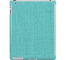 Natural Woven Aqua Blue Burlap Sack Cloth iPad Case/Skin