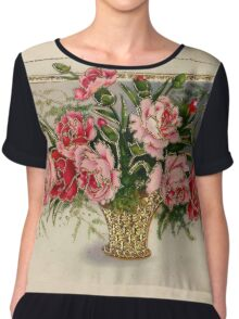 Vintage Flowers Chiffon Top