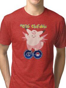 036 Clefable GO! Tri-blend T-Shirt