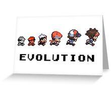 Pokemon evolution - Classic Greeting Card