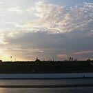 Panorama Sunset at Santa Pod by Vicki Spindler (VHS Photography)