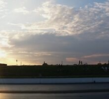 Panorama Sunset at Santa Pod by Vicki Spindler (VHS Photography)