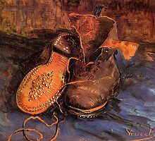 'A Pair of Shoes' by Vincent Van Gogh (Reproduction) by Roz Abellera Art Gallery