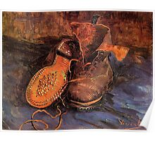 'A Pair of Shoes' by Vincent Van Gogh (Reproduction) Poster