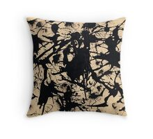 In the style of Jackson Pollock - 1 Throw Pillow