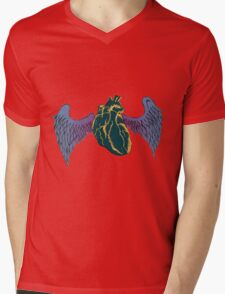 Wings of Your Heart Mens V-Neck T-Shirt