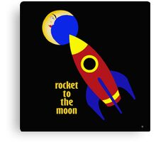ROCKET TO THE MOON Canvas Print