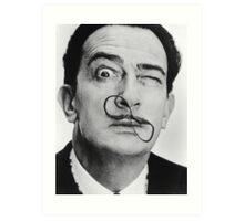 avida dollar = Salvador Dali portrait - 1 figure face Art Print