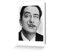 avida dollar = Salvador Dali portrait - 1 figure face Greeting Card