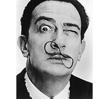 avida dollar = Salvador Dali portrait - 1 figure face Photographic Print