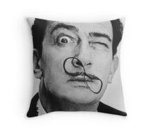 avida dollar = Salvador Dali portrait - 1 figure face Throw Pillow