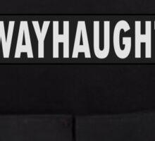 WayHaught bullet proof vest - Wynonna Earp Sticker