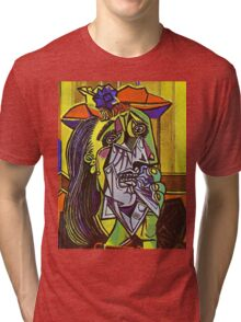 In the style of pablo picasso - 1 Tri-blend T-Shirt