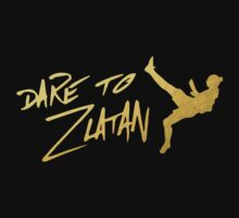 Dare To Zlatan in Manchester Gold Kids Tee