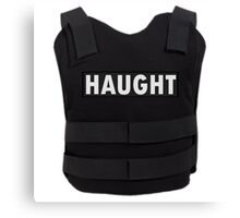 Haught Bullet Proof Vest - Wynonna Earp Canvas Print