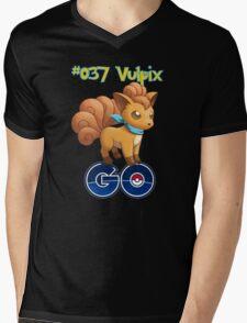 037 Vulpix GO! Mens V-Neck T-Shirt