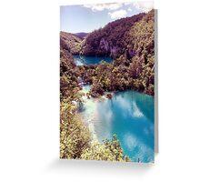 Vintage Plitvice Lakes Greeting Card