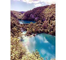 Vintage Plitvice Lakes Photographic Print