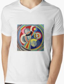 In the style of Robert Delaunay - 1 Mens V-Neck T-Shirt