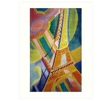 in the style of Robert Delaunay - 2 - Eiffel tower Art Print
