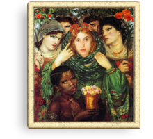 Amy Winehouse as The Beloved by Dante Gabriel Rossetti Canvas Print