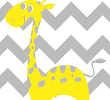 Giraffe Baby Room - Yellow - Gray by hypetees