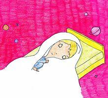 """Pink Dreamer"" pillow by GO-GOOGOO"